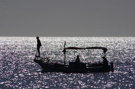 Morning fishing in the Mediterranean
