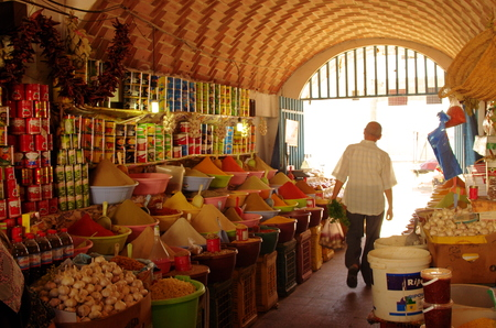 Spices on the market in Tunisia. Editorial