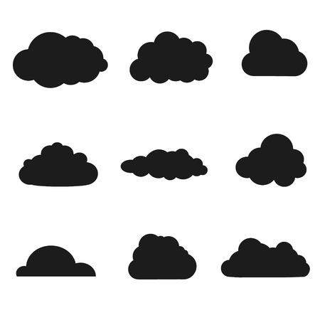 Vektoros illusztráció felhők gyűjteménye