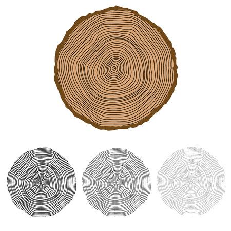 snag: Vector conceptual background with tree-rings Tree cut Stump Snag.