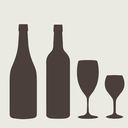 freshener: Wine bottle sign set. Bottle icon ?rockery. Illustration