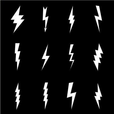 Lightning flat icons set Stock fotó - 41407072