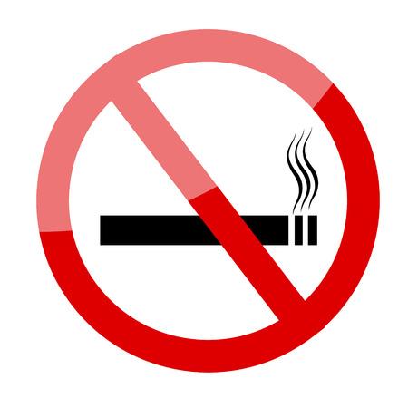 smoldering: No smoking sign. Smoking prohibited symbol isolated on white background vector illustration image Illustration