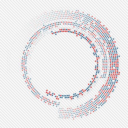 circle frames: Abstract circle halftone  vector illustration Eps10 illustration