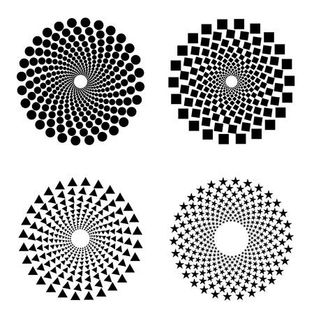 Állítsa az absztrakt Féltónus Háttér. vektoros illusztráció