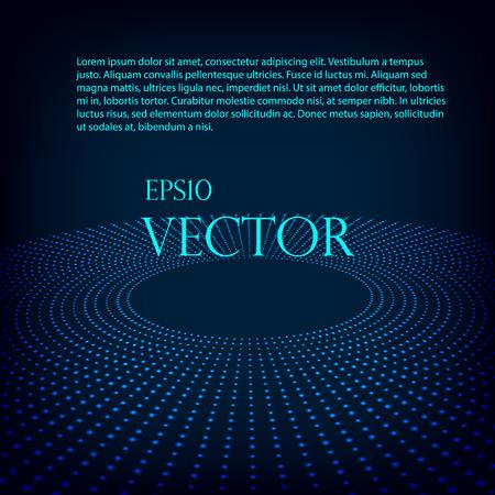 Virtuális tecnology vektor háttér izzó féltónusos kör EPS 10. Illusztráció