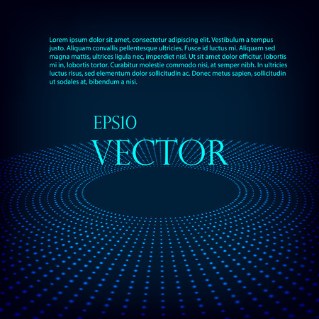 matrix: Virtual tecnology vector background with glowing halftone dots in round Eps 10.