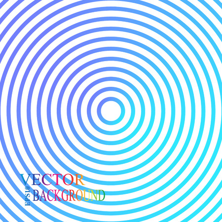 Blue and green metallic background  design with concentric circles Vector