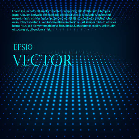 tecnology: Virtual tecnology vector background with glowing halftone dots Eps 10. Illustration