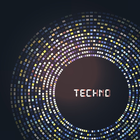 laser lights: Technology round for your  logo template. Can be used for business presentation. Illustration