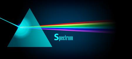 Espectro de luz Física Prisma eps 10 ilustración vectorial