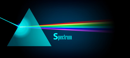 prisma: Espectro de luz F�sica Prisma eps 10 ilustraci�n vectorial