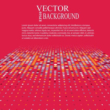 repetition dotted row: Background with the coloured circles in a vector. Eps10 perspective illustration