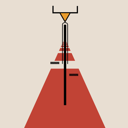 futurism: Stylized bicycle de stijl art eps 10 vector illustration