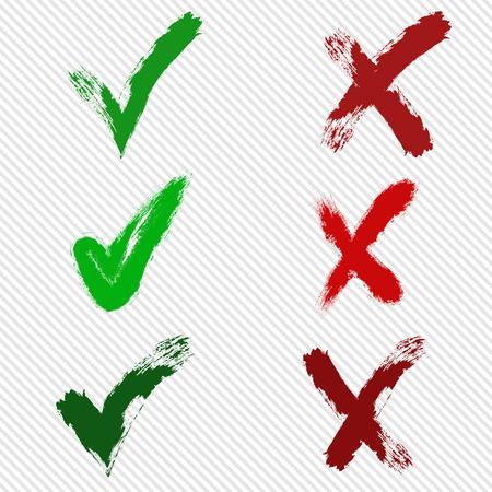 Vector check marks Eps10 illustration