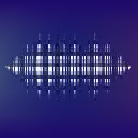 vague: Waveform fond isol�. Ondes sonores vecteur de demi-teintes noir et blanc. Vous pouvez utiliser dans le club, radio, pub, f�te, DJ, concerts, r�citals ou de la technologie audio publicit� fond. Illustration