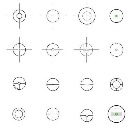 sharpshooter: Crosshairs icons. Vector.