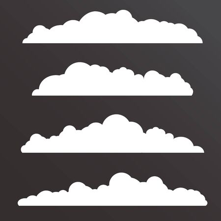 long: Collection of Various  clouds with a big long shape