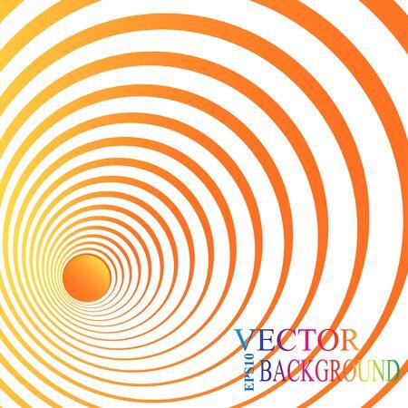 3d perspectiva círculo rojo. Ilustración del vector.