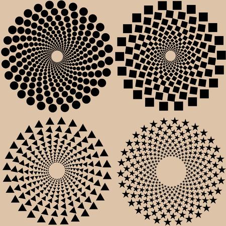 halftone dots pattern set in vector format Eps10 illustration