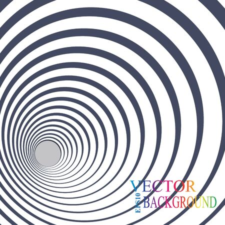 concentric circles: 3d perspective circle background.  eps 10 vector illustration