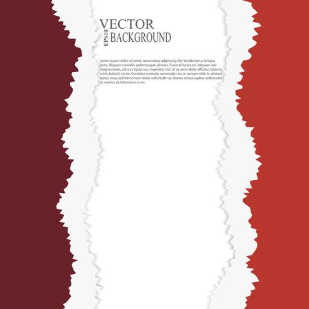 tear paper: EPS10 file.  tear paper brochure background  red color Illustration