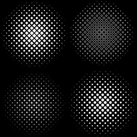 Halftone Frames A set of 4 halftone frame patterns eps 10 vector illustration Imagens - 41521764