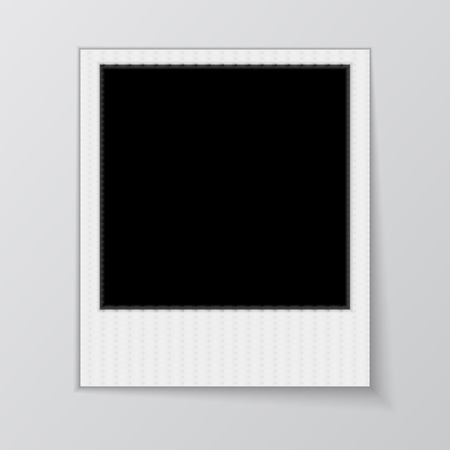 Blank photo frame isolated on white background.  Vector illustration. Realistic. Face side.  illustration