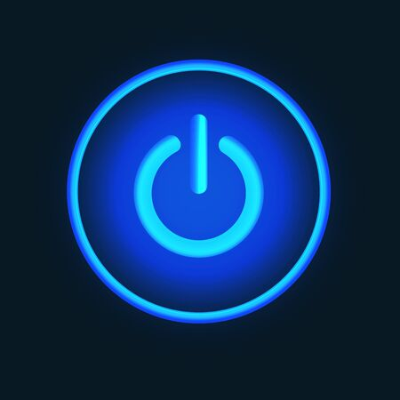 high end: Blue neon vector button vector illustration eps 10 vector illustration