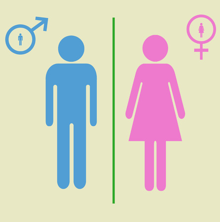 compliant: man and woman signs  eps 10 vector illustration