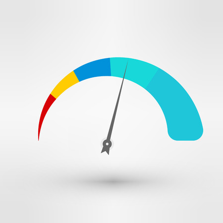 speedmeter: Speedometer icon logo eps 10 vector illustration