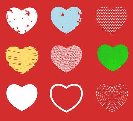 Vector hearts set.  vector illustration image eps 10 vector illustration Vector