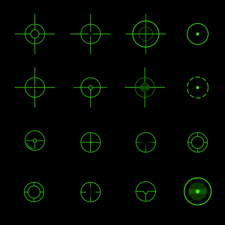 Set of  different vector crosshairs eps 10 vector illustration
