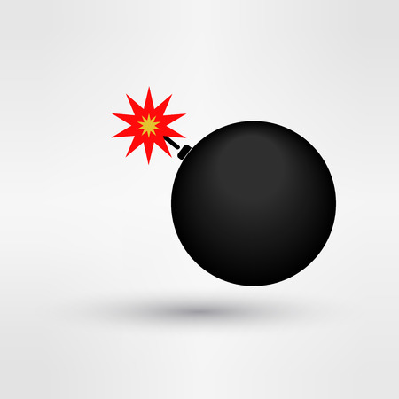 detonation: Bomb icon logo eps 10 vector illustration