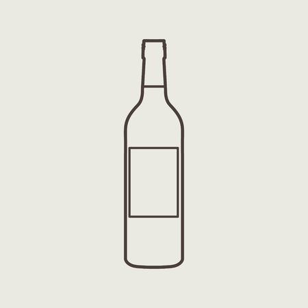 wine bottle sign set eps 10 vector illustration Vector
