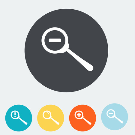 detect: Simple web icon in vector  zoom eps 10 vector illustration Illustration