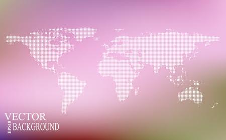 mapa mundi: mapa estilizado de mundo. mapa conceptual mundo. Vectores