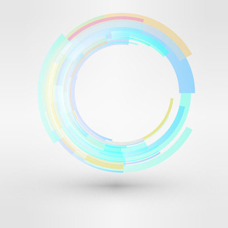 looped: Circle looped abstract vector logo design template. Business Technology symbol.  cycle sign icon  illustration Illustration