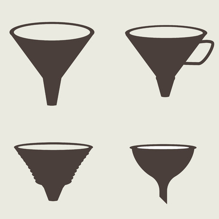 funnel: Funnel icon vector illustration image eps 10 vector illustration Illustration