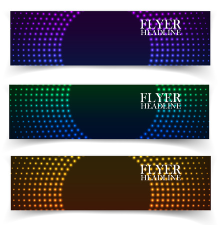 business backgound: Vector web banners. One, two, three. Presentation slide template. Abstract background. Business background. Technology background. Business card. Glowing background. Blue background
