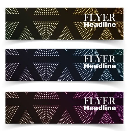 textural: Vector textural banners in grunge style. Eps 10 Illustration