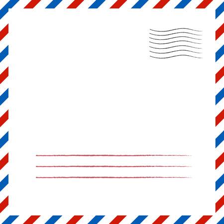 Postal background.  eps 10 vector illustration Vettoriali