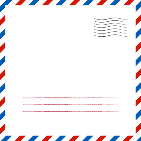 Postal background.  eps 10 vector illustration Illustration