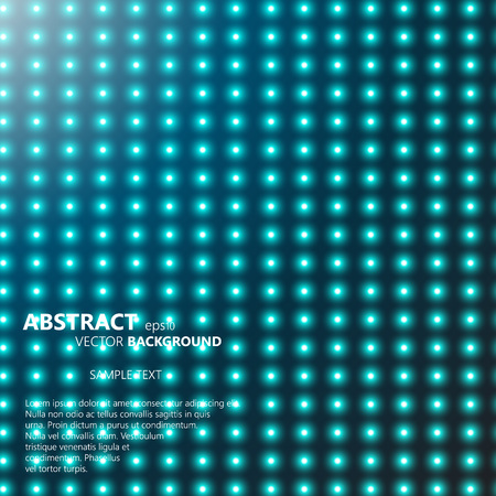Abstract smooth background with glowing rows of halftone dots Vector