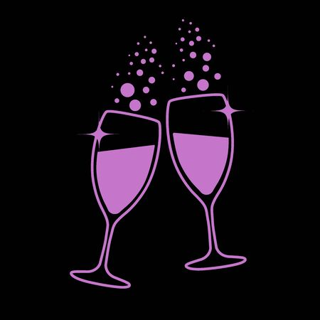 champagne glasses: champagne glasses