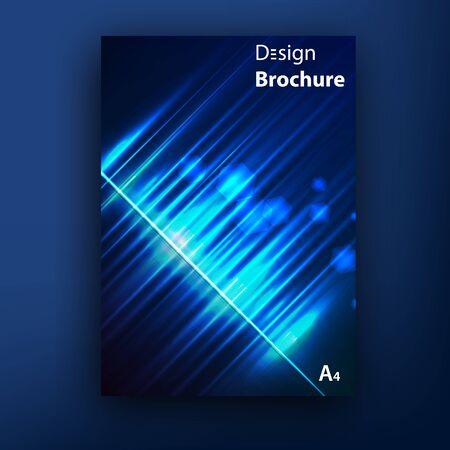 borealis: Vector avrora borealis brochure  booklet cover design templates collection