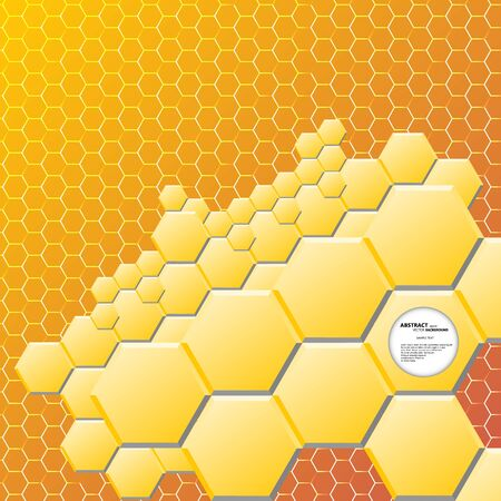 multifaceted: Abstract hexagon background. Vector illustration, contains gradients and effects. Illustration