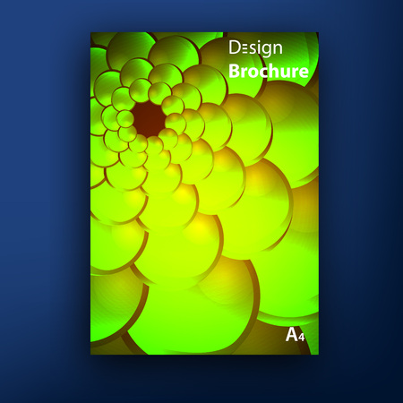 squama: Vector green golden squama  swirl brochure  booklet cover design templates collection