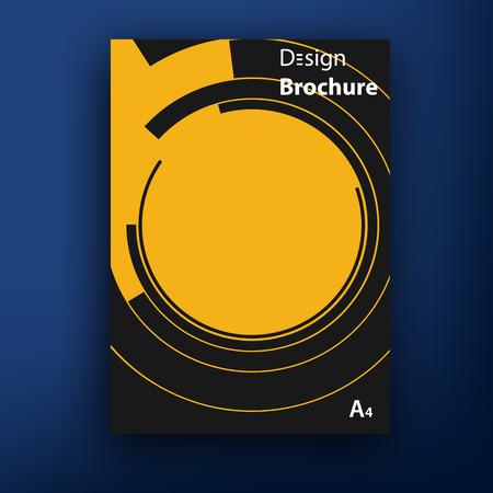 presentation card: Vector retro bauhaus de stijl brochure  booklet cover design templates collection