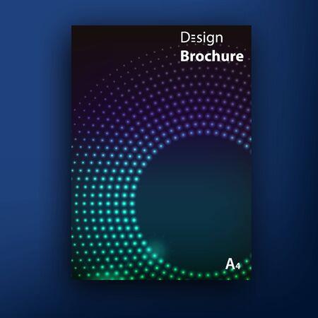 Vector glamur techno brochure  booklet cover design templates collection